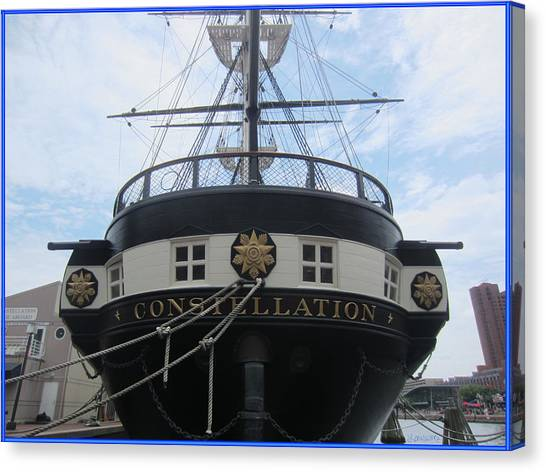 Racism Canvas Print - Uss Constellation by Laurence Wolfe