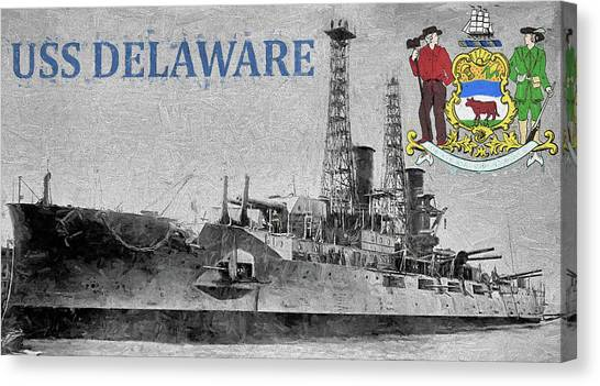 Rotc Canvas Print - Uss Delaware by JC Findley