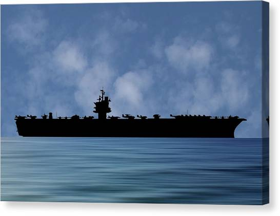 Aircraft Carrier Canvas Print - Uss Enterprise 1960 V1 by Smart Aviation