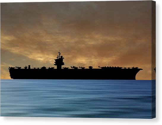 Aircraft Carrier Canvas Print - Uss Enterprise 1960 V2 by Smart Aviation
