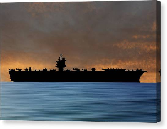 Aircraft Carrier Canvas Print - Uss Enterprise 1960 V3 by Smart Aviation