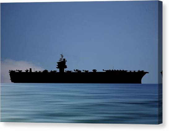 Aircraft Carrier Canvas Print - Uss Enterprise 1960 V4 by Smart Aviation