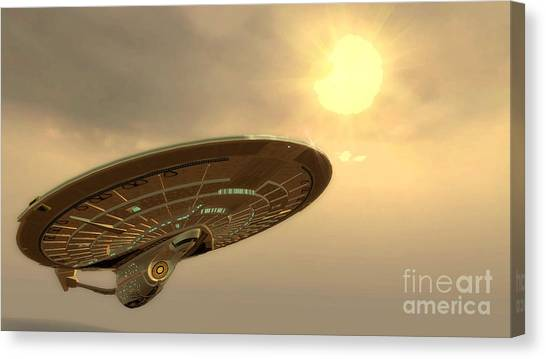 Uhura Canvas Print - Uss Enterprise One Last Voyage by Robert Radmore