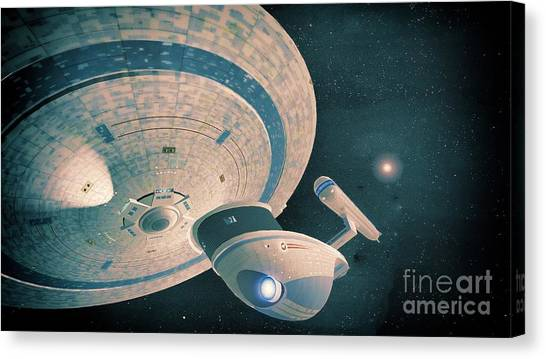 Uhura Canvas Print - Uss Excelsior by Robert Radmore