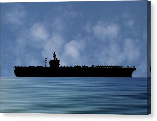 Aircraft Carrier Canvas Print - Uss George Washington 1992 V1 by Smart Aviation