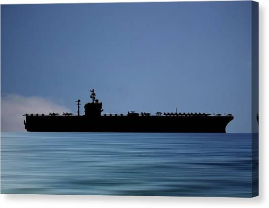 Aircraft Carrier Canvas Print - Uss George Washington 1992 V4 by Smart Aviation