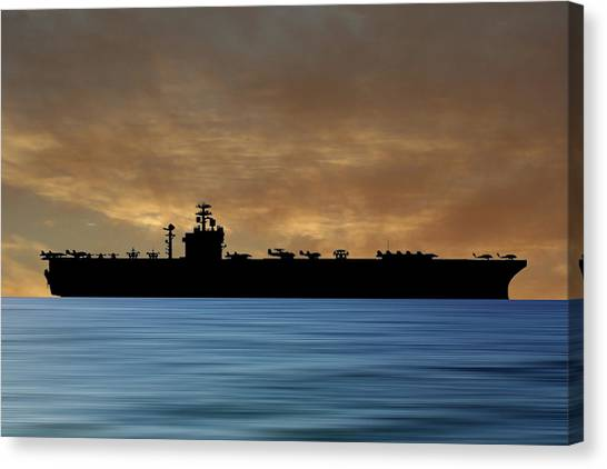 Harry Truman Canvas Print - Uss Harry S. Truman 1998 V2 by Smart Aviation