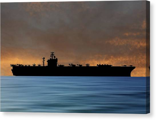 Harry Truman Canvas Print - Uss Harry S. Truman 1998 V3 by Smart Aviation