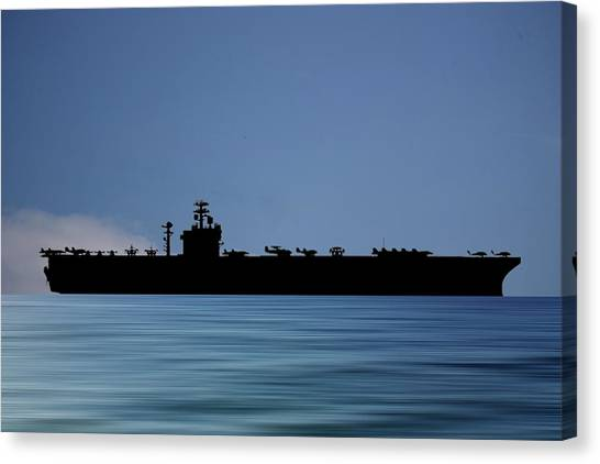 Harry Truman Canvas Print - Uss Harry S. Truman 1998 V4 by Smart Aviation