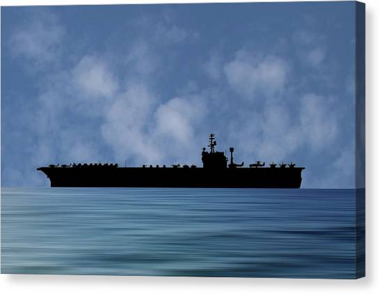 John F. Kennedy Canvas Print - Uss John F Kennedy 1964 V1 by Smart Aviation