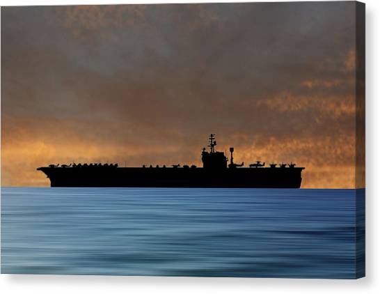 John F. Kennedy Canvas Print - Uss John F Kennedy 1964 V3 by Smart Aviation