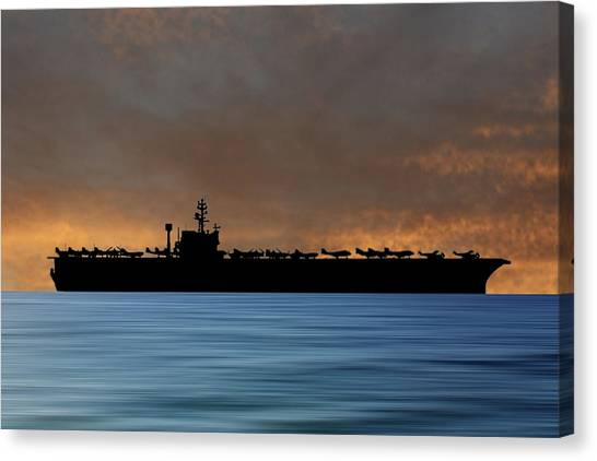 John F. Kennedy Canvas Print - Uss John F. Kennedy 1968 V3 by Smart Aviation