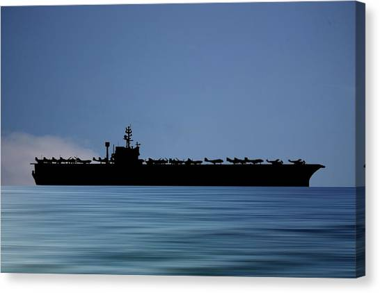 John F. Kennedy Canvas Print - Uss John F. Kennedy 1968 V4 by Smart Aviation