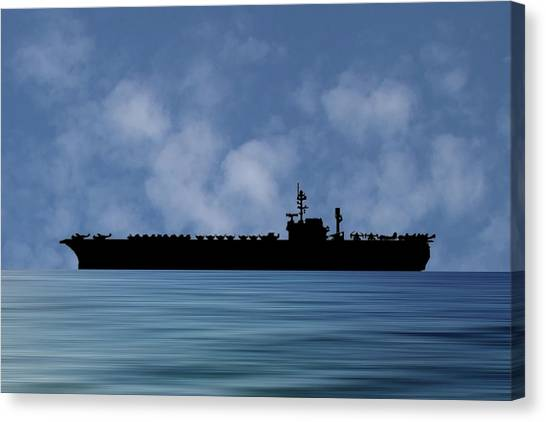Hawks Canvas Print - Uss Kitty Hawk 1955 V1 by Smart Aviation