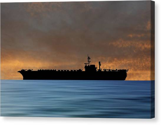 Hawks Canvas Print - Uss Kitty Hawk 1955 V3 by Smart Aviation