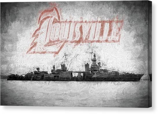 University Of Louisville Canvas Print - Uss Louisville by JC Findley