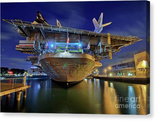 Uss Midway Aircraft Carrier  Canvas Print