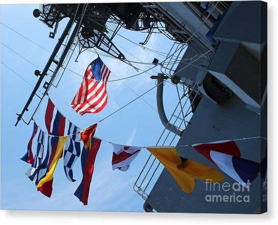 Uss Midway Flag Canvas Print