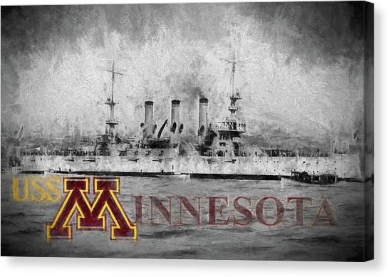 Rotc Canvas Print - Uss Minnesota by JC Findley