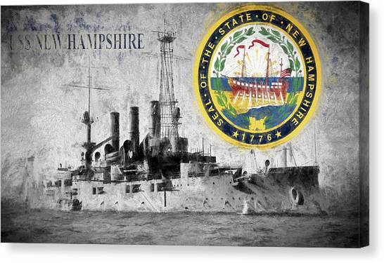 Rotc Canvas Print - Uss New Hampshire by JC Findley