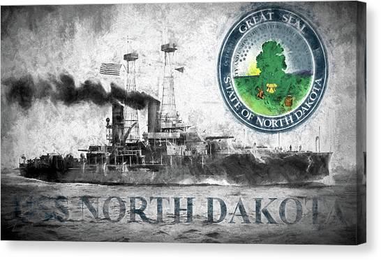 Rotc Canvas Print - Uss North Dakota by JC Findley