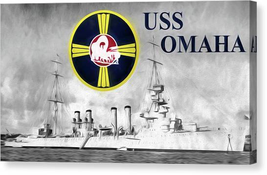 Uss Omaha Canvas Print by JC Findley