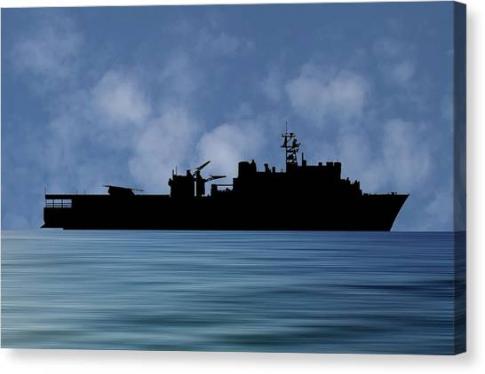 Harbors Canvas Print - Uss Pearl Harbor 1996 V1 by Smart Aviation