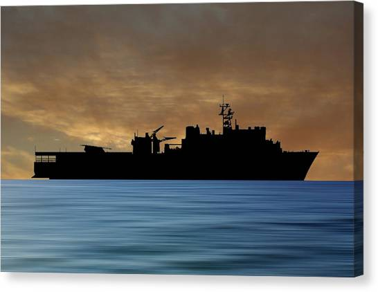 Harbors Canvas Print - Uss Pearl Harbor 1996 V2 by Smart Aviation