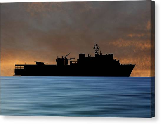 Harbors Canvas Print - Uss Pearl Harbor 1996 V3 by Smart Aviation