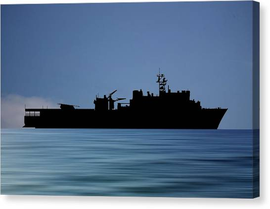 Harbors Canvas Print - Uss Pearl Harbor 1996 V4 by Smart Aviation