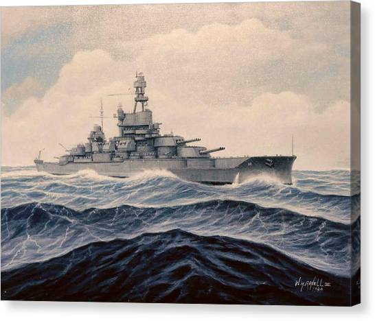 Uss Pensylvania Canvas Print by William H RaVell III