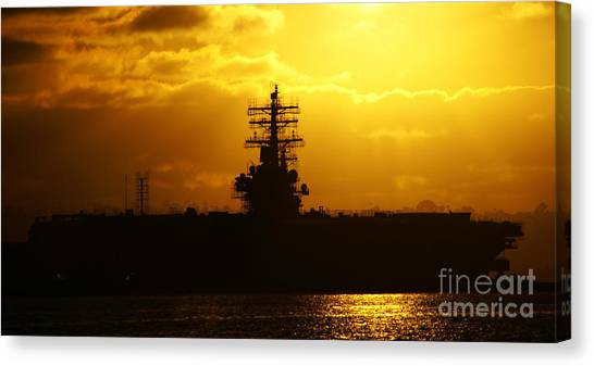 Uss Ronald Reagan Canvas Print