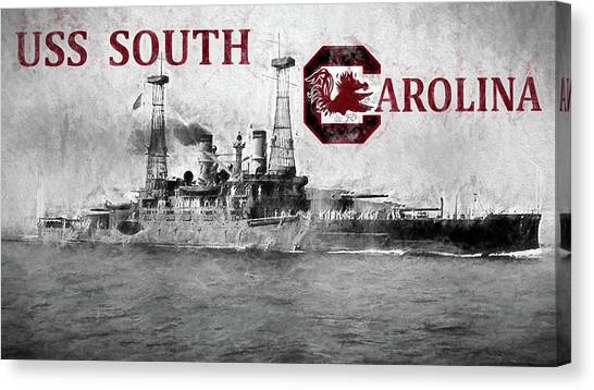 Dreadnought Canvas Print - Uss South Carolina by JC Findley
