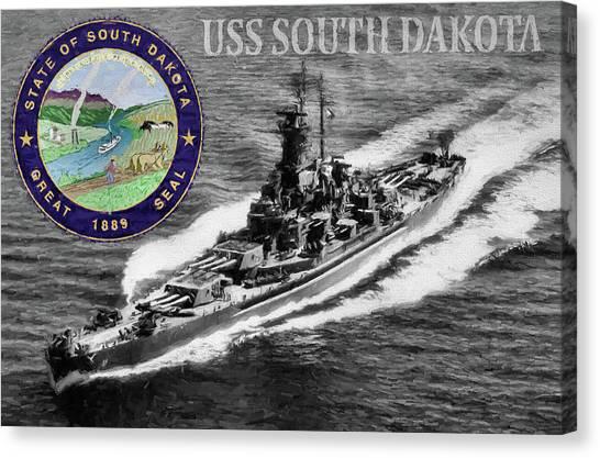 Rotc Canvas Print - Uss South Dakota by JC Findley