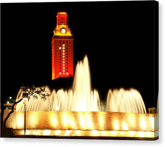Austin Texas Canvas Print - Ut Tower Championship Win by Marilyn Hunt