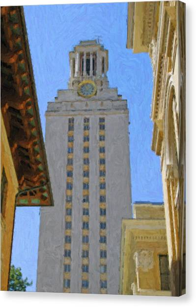 Texas Christian University Canvas Print - Ut University Of Texas Tower Austin Texas by Jeff Steed
