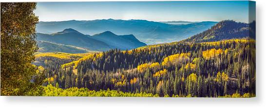 Utah Autumn Panorama Canvas Print