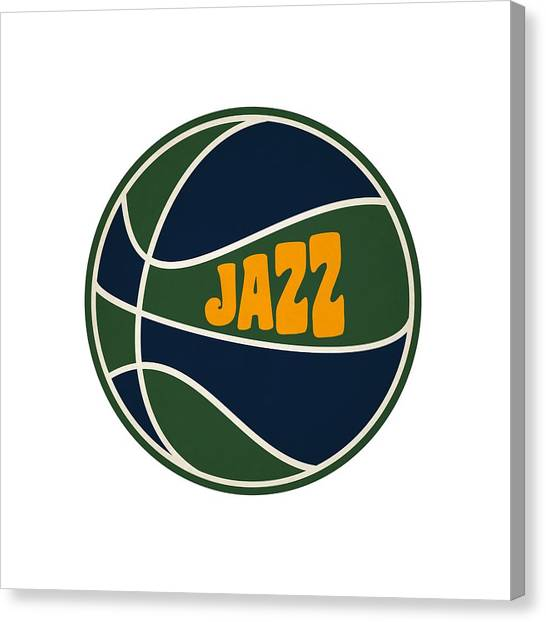 Utah Jazz Canvas Print - Utah Jazz Retro Shirt by Joe Hamilton