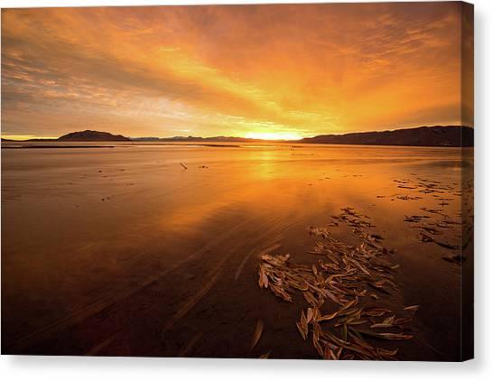 Utah Lake Sunset Canvas Print