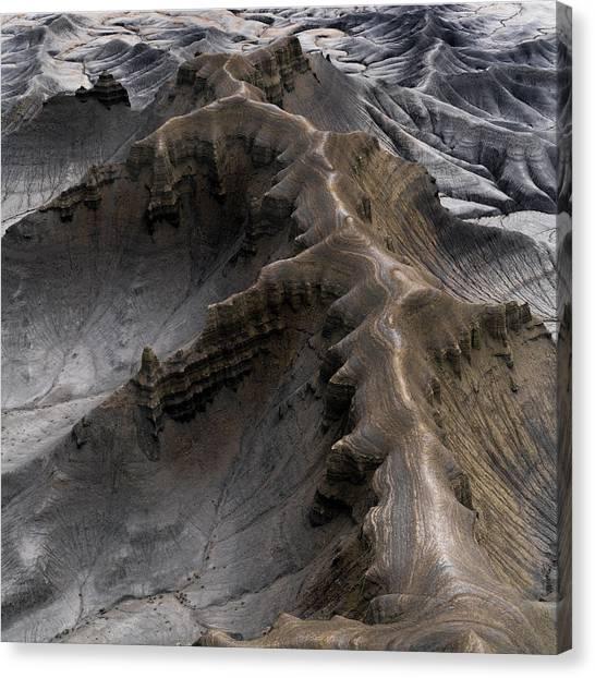 Desert Sunrises Canvas Print - Utah Moonscape by Larry Marshall