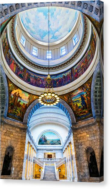 Utah State Capitol Rotunda #2 Canvas Print