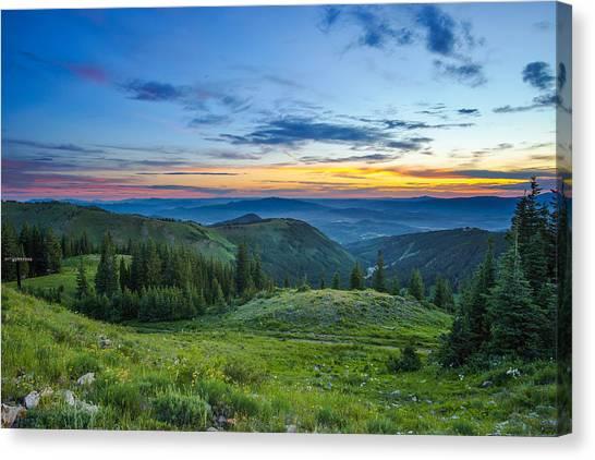 Utah Sunrise Above Park City Canvas Print