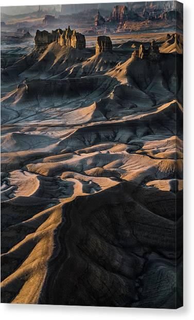 Beautiful Sunrise Canvas Print - Utah Vista by Larry Marshall