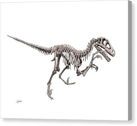 Utahraptor Canvas Print
