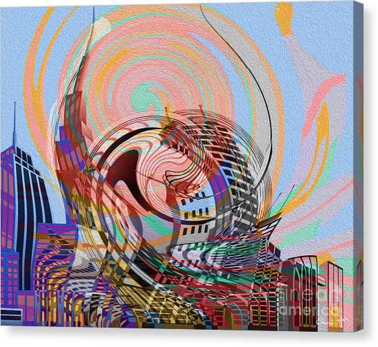 Canvas Print featuring the digital art Utopia by Eleni Mac Synodinos
