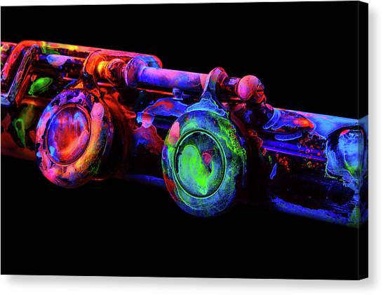 76c4668b6fd Uv Paint Canvas Print - Uv Flute C2 by John Poppleton