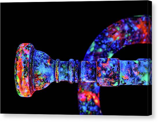 3ac6c6f599d Blacklight Paint Canvas Print - Uv Trumpet C1 by John Poppleton