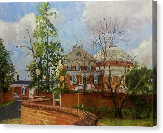 University Of Virginia Canvas Print - Uva Gardens And Rotunda by Edward Thomas
