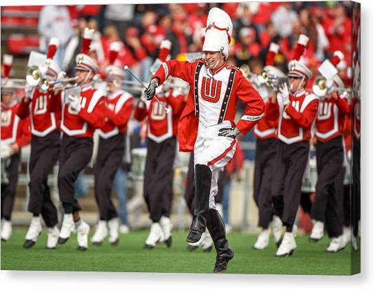 Marching Band Canvas Print - Uw Drum Major by Todd Klassy
