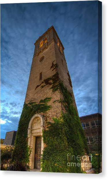 University Of Wisconsin - Madison Canvas Print - Uw Madison Carillon Tower by Gregory Payne